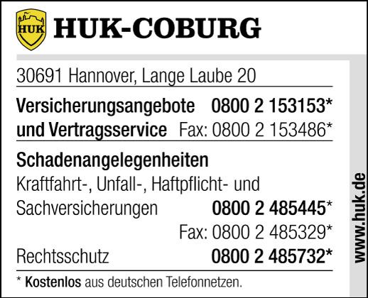 huk coburg schaden melden in hannover mitte im telefonbuch finden. Black Bedroom Furniture Sets. Home Design Ideas